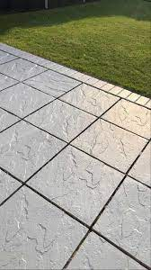 how to paint your garden slabs this