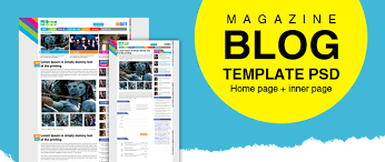Magazine Template Psd Premium Magazine Blog Template Psd For Free Download