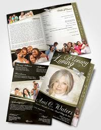 Funeral Pamphlet Templates Custom 48 Page Graduated Step Fold Funeral Program Template Brochure Emerald