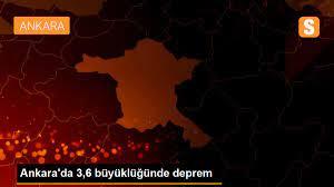 Ankara'da 3,6 büyüklüğünde deprem - Son Dakika