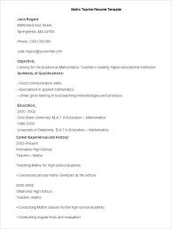 The Objective On A Resume Best Resumes For Teachers Examples Teacher Resume Example Resume