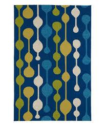 blue yellow mod home porch indoor outdoor rug