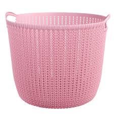 Pink Plastic Laundry Basket Classy Rattan Plastic Laundry Basket Hamper Clothing Storage Basket Clothes