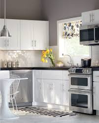 Grey Walls In Kitchen White Cabinets Subway Tile Gray Walls Perfection Kitchen