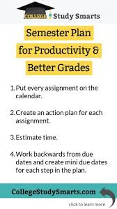 How To Get Better Grades In College Semester Plan For Productivity Better Grades College