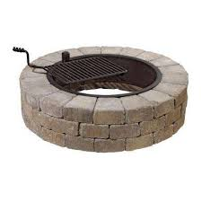 P Fire Pit Kit In Santa Fe With Cooking Grate