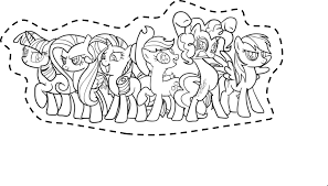 Mlp Coloring Pages Mane 6 Free Coloring Library
