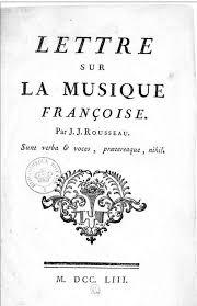 rousseau melody and mode  rousseau letter de music