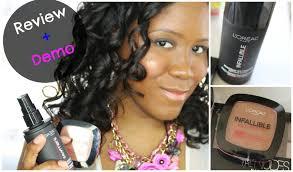 loreal infallabile pro matte review l oreal infallible pro spray set makeup extender