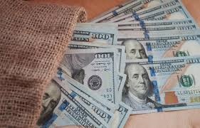 从包里赚了很多钱库存图片. 图片包括有财务, 背包, 工资, 商业, 班珠尔, 广告牌, 查出, 诱饵- 172778231