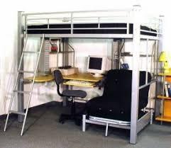 Bed on top desk on bottom