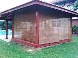 brown rectangle traditional bamboo outdoor shades stained ideas awesome outdoor shades