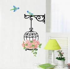 $22.49 quick view showing 1 of 1 Bird Cage Rose Flowers Blue Bird Wall Decal Sticker Decor Living Room Art Decor Poster Removable Pvc Wallpaper From Magicforwall 1 61 Dhgate Com