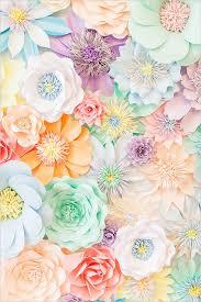 Paper Flower Background Pastel Tea Party Wedding Ideas Decor Details For Weddings