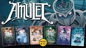 amulet is a graphic novel series created by cartoonist kazu kibuishi and published through scholastic s graphix division curly there are a total of