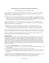 How To Write Good Executive Summary For Resume 3ce7baffa