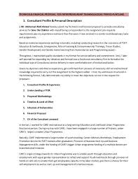 Sample Proposal Letter For Consultancy Services Technical Financial Proposal For Enterpreneurship Training