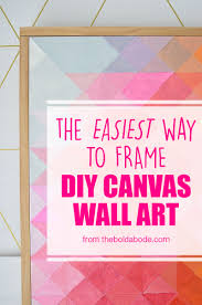 Diy Canvas The Easiest Way To Frame A Canvas