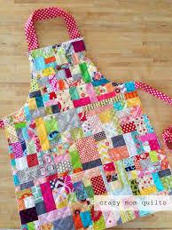 crazy mom quilts: scrap happy apron & Today I