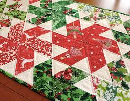 Graphic Inspiration for Modern Christmas Quilts & Quilted Christmas table runner Adamdwight.com