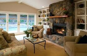 modern living room with stone fireplace. modern fireplace living room stylish encased in glass view gallery well ventilated . with stone n