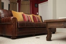 restoration hardware leather sofa in lancaster leather sofa