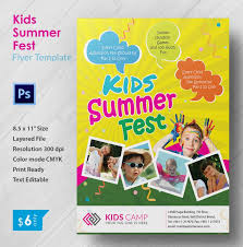Kid Flyer Word Template Camp Flyer Template Microsoft Word Palaeos