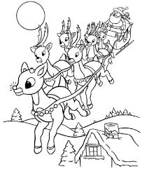 Christmas Reindeer Coloring Pages At Getcolorings Com Free
