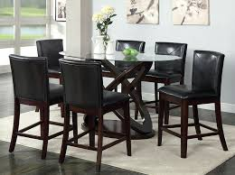 contemporary tempered glass dining set