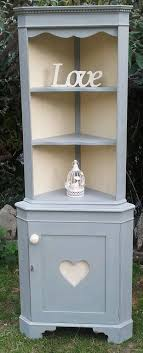 Shabby Chic Corner Shelves Custom Corner Shelf Unit With Drawers Tree House Cafe
