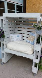 Garden furniture from pallets Grey 20 Enclosed Seating Area With Cushions For Comfort Homebnc 27 Best Outdoor Pallet Furniture Ideas And Designs For 2019