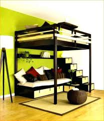 decoration king size loft bed plans with stairs diy full kits