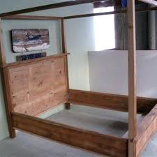 Wood Canopy Bed Hand Made Wooden Canopy Bed By Reclaimed Wood ...
