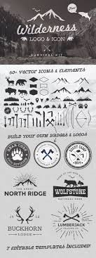 wilderness vector graphics logo template kit survival awesomesauce vector kit on spoon graphics wilderness logo and icon survivial kit