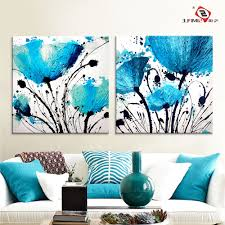 preferred blue canvas wall art pertaining to oil painting wall art canvas prints abstract blue flowers on canvas wall art blue flowers with displaying photos of blue canvas wall art view 11 of 15 photos