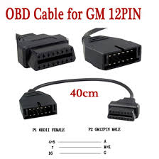 aliexpress com buy for g m 12 pin 12pin obd 2 connector adapter aliexpress com buy for g m 12 pin 12pin obd 2 connector adapter for gm12 pin obd2 obdii auto car accessories diagnostic extension cable 16 pin from