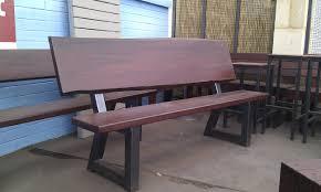 outdoor bench seat jarrah timber steel legs heavy duty