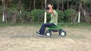 ikayaa heavy duty steel rolling garden cart scooter planting