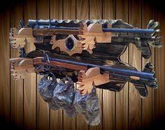 Rifle Coat Rack 100 Place Wood Gun Rack Bear Decor Shotgun Shell Hat Coat Rack Blue 82