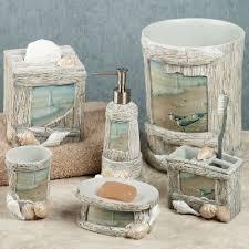 Beach Style Bathroom Decor Home Bath Bath Accessories At The Beach Bath Accessories Seashell