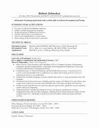 Abap Resume Sample Luxury Sap Abap Resume 2 Years Experience