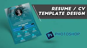 Resume Cv Design Photoshop Youtube