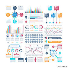 Infographics Template Financial Charts Trends Graph