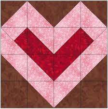 Center Filled Heart Quilt Block Pattern Download – The Feverish ... & ... Center Filled Heart Quilt Block Pattern Download Adamdwight.com