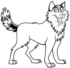 Disegno Di Cane Husky Da Colorare Per Bambini Con Disegni Di Cani Da