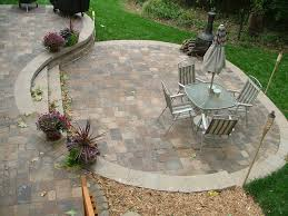 ... Wonderful Exterior Garden Decoration Design In Outdoor Patio Flooring  Ideas : Simple And Neat Exterior Garden ...