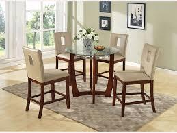 baldwin walnut glass top round dining table set