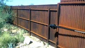 corrugated metal fence diy steel continuous fence inspirations of corrugated metal panels diy corrugated metal fence