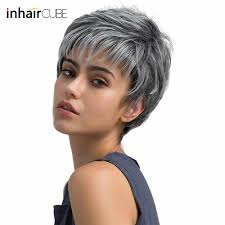 Detail Feedback Questions About Esin Short Hair Wig Pixie Cut Light