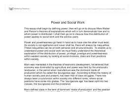 power and social work gcse sociology marked by teachers com document image preview
